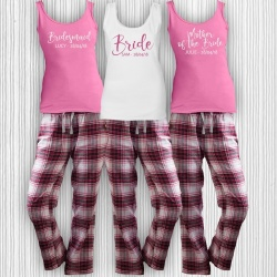 SALE (Size 14) Harper Check Bridal Party Check Long PJ Pyjama Set